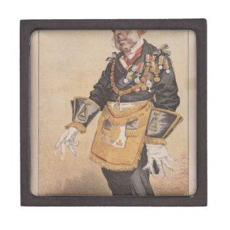 Caricatura de los estadistas No.370 de Thomas Cajas De Recuerdo De Calidad