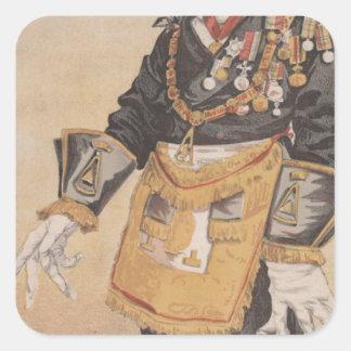 Caricatura de los estadistas No.370 de Thomas Pegatina Cuadrada
