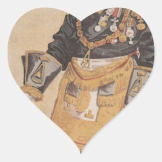 Caricatura de los estadistas No.370 de Thomas Pegatina En Forma De Corazón