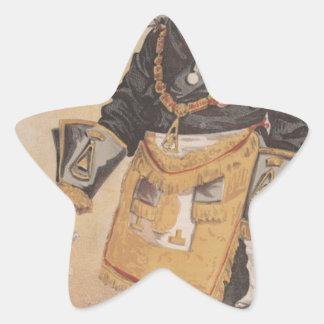 Caricatura de los estadistas No.370 de Thomas Pegatina En Forma De Estrella