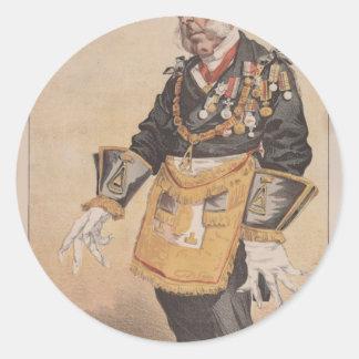 Caricatura de los estadistas No.370 de Thomas Pegatina Redonda