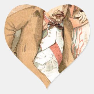 Caricatura de los Sovereigns No.10 de Napoleon III Pegatina En Forma De Corazón