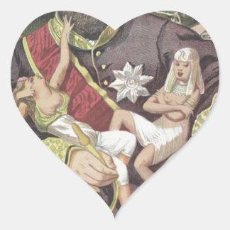 Caricatura de los Sovereigns No.50 del sultán Pegatina En Forma De Corazón