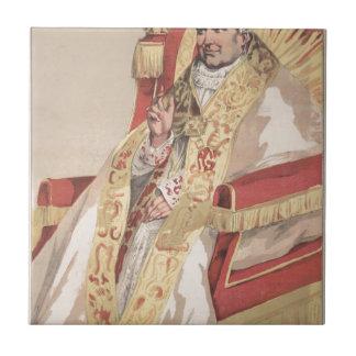 Caricatura de los Sovereigns No.60 de papa Pío IX Azulejo Cuadrado Pequeño