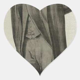 Caricatura de Matthew Arnold de James Tissot Pegatina En Forma De Corazón