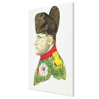 Caricatura de Napoleon Bonaparte Impresion En Lona