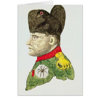 Caricatura de Napoleon Bonaparte Tarjetón