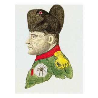 Caricatura de Napoleon Bonaparte Postal