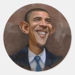 Caricatura de Obama Etiquetas