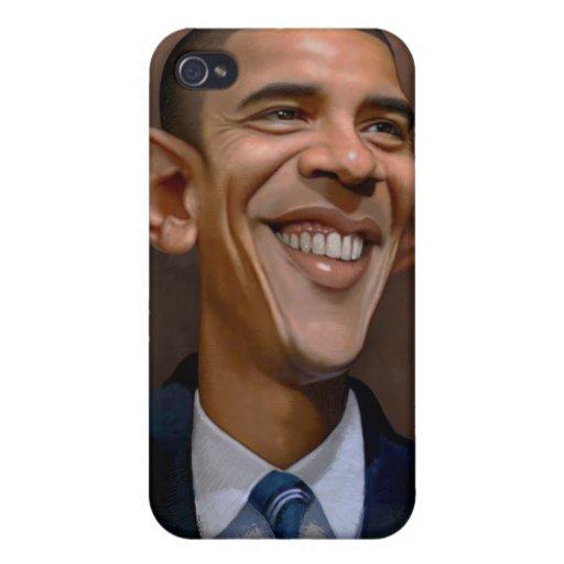 Caricatura de Obama iPhone 4/4S Carcasa