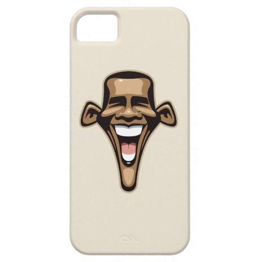 Caricatura de Obama iPhone 5 Carcasas