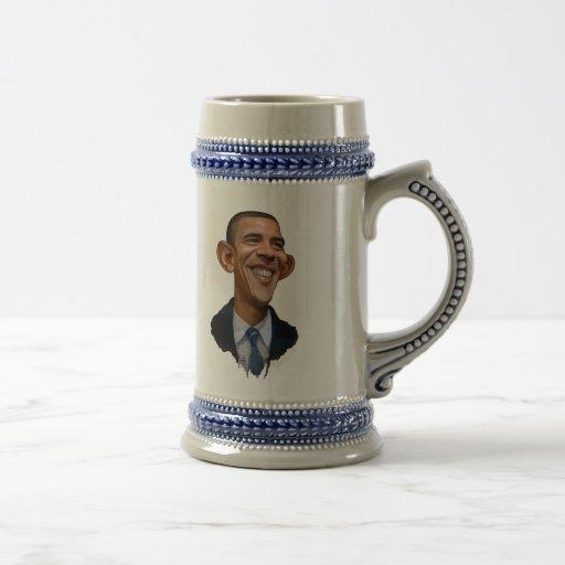 Caricatura de Obama Jarra De Cerveza