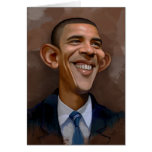 Caricatura de Obama Tarjeta