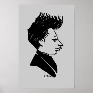 Caricatura de Rilke Póster
