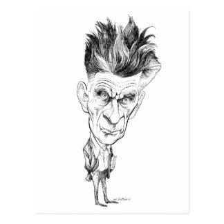 Caricatura de Samuel Beckett de Edmund S Valtman Tarjeta Postal