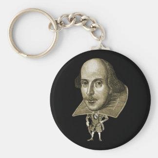 Caricatura de Shakespeare Llavero Personalizado