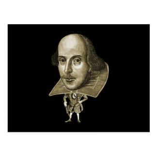 Caricatura de Shakespeare Postal