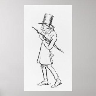 Caricatura de Soren Aabye Kierkegaard Póster