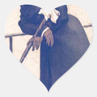 Caricatura de Sr. Washington Hibbert James Tissot Pegatina En Forma De Corazón