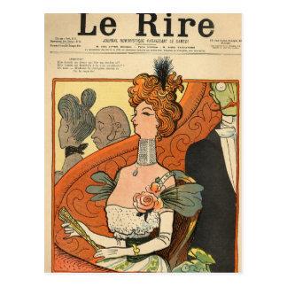 Caricatura de un marqués francés postal