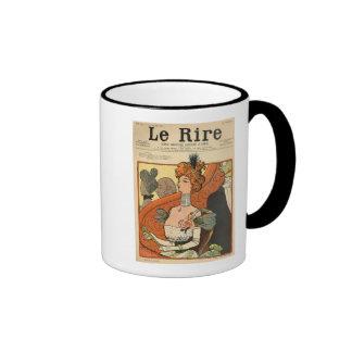 Caricatura de un marqués francés taza de dos colores