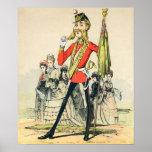 Caricatura de un soldado de Británicos del Victori Posters