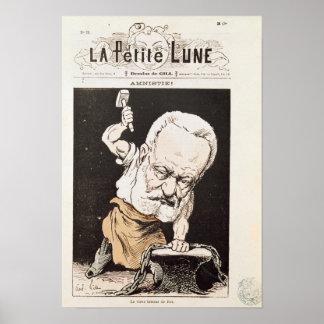 Caricatura de Victor Hugo Póster