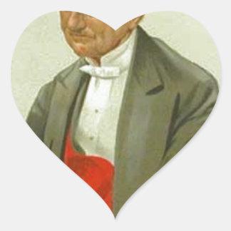 Caricatura del almirante sir Hastings Reginald Pegatina En Forma De Corazón