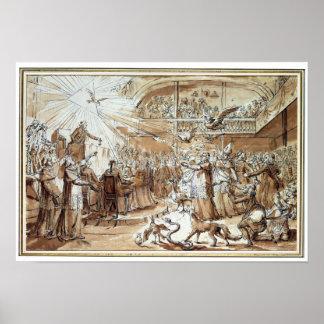 Caricatura del clero póster