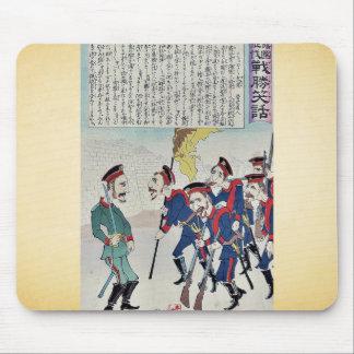 Caricatura del ejército ruso por Utagawa, Kokunima Alfombrilla De Raton