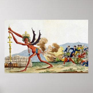 Caricatura del gobierno inglés, 1793 póster