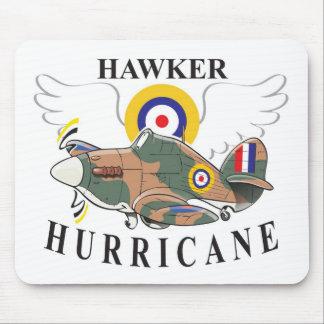 caricatura del huracán del vendedor ambulante mousepads