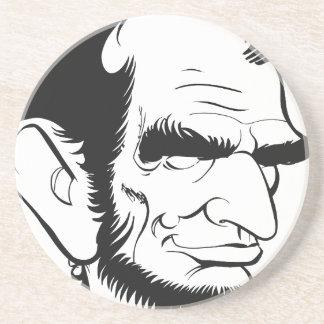 caricatura divertida de Abraham Lincoln Posavasos Diseño