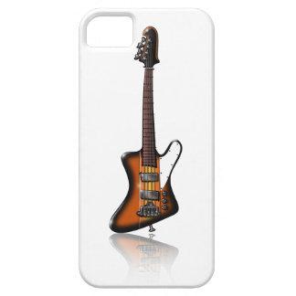 Caricatura eléctrica de la guitarra baja de funda para iPhone 5 barely there
