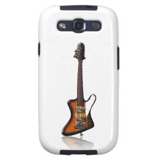 Caricatura eléctrica de la guitarra baja de Thunde Samsung Galaxy S3 Carcasas