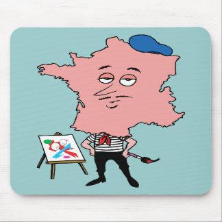 Caricatura francesa del recuerdo del viaje del vin tapete de ratón