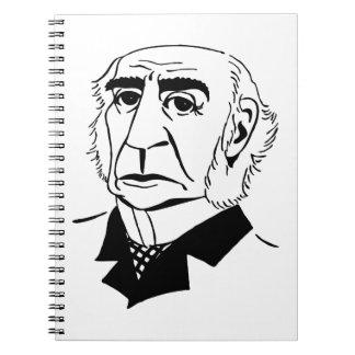 Caricatura Guillermo Gladstone Libro De Apuntes Con Espiral