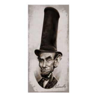 Caricatura honesta de Abe Póster