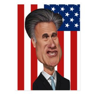 Caricatura los E.E.U.U. de Mitt Romney Tarjeta Postal
