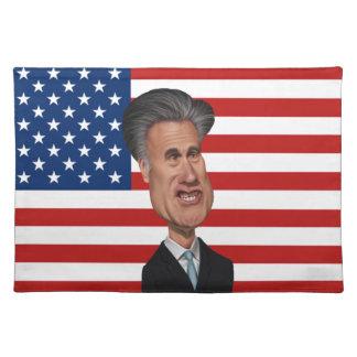 Caricatura presidencial los E.E.U.U. de Mitt Romne Manteles Individuales
