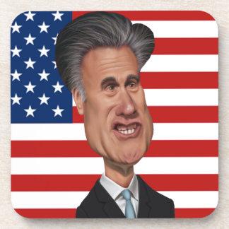 Caricatura presidencial los E.E.U.U. de Mitt Romne Posavasos