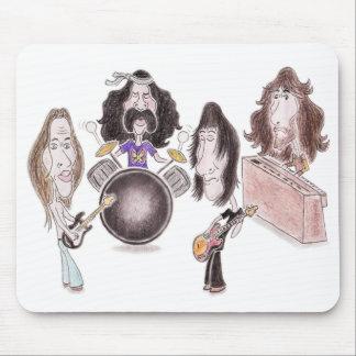 Caricatura psicodélica Mousepad del rock progresiv