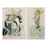 Caricaturas de Victor Hugo y de Napoleon III Tarjetas Postales