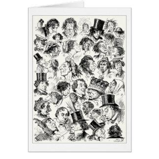 Caricaturas del dibujo animado del vintage tarjeta de felicitación