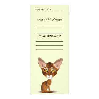 Caricature Abyssinian 4x9.25 Paper Invitation Card