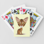 Caricature Abyssinian Bicycle Playing Cards