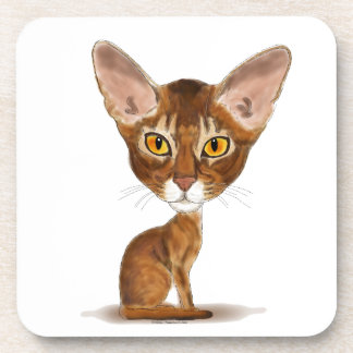 Caricature Abyssinian Drink Coaster