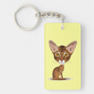 Caricature Abyssinian Keychain