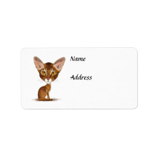 Caricature Abyssinian Label