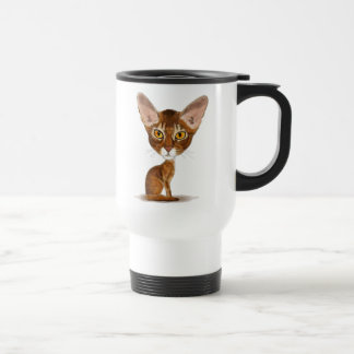 Caricature Abyssinian 15 Oz Stainless Steel Travel Mug